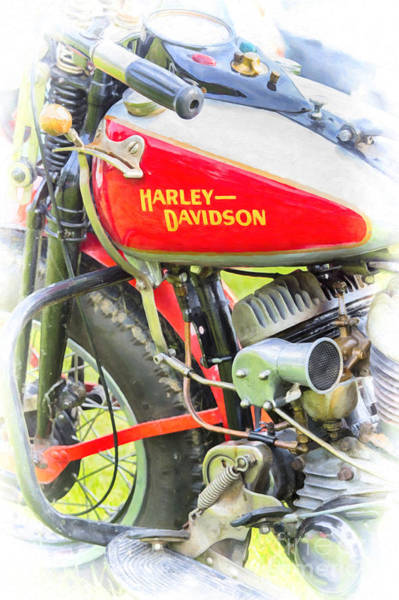 Photograph - Vintage Flathead Hd by Tim Gainey