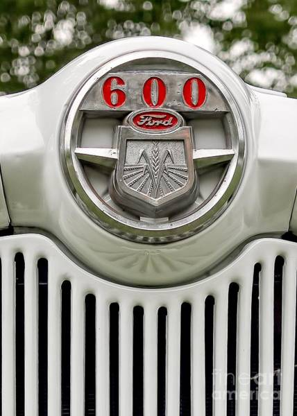 Best Selling Photograph - Vintage Ford 600 Nameplate Emblem by Edward Fielding