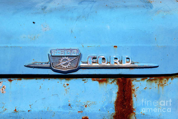 Photograph - Vintage Ford F-600 Truck Detail by James Brunker