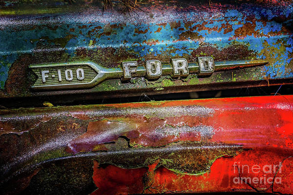 Vintage Ford F100 Art Print