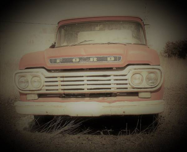 Wall Art - Photograph - Vintage Ford Pickup by Toni Grote