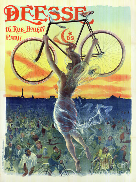 Wall Art - Photograph - Vintage French Bicycle Poster by Jon Neidert