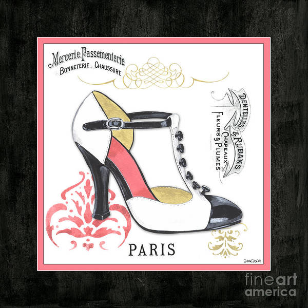 Logos Painting - Vintage French Shoes 1 by Debbie DeWitt