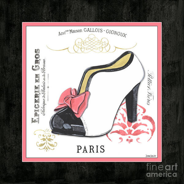 Logos Painting - Vintage French Shoes 2 by Debbie DeWitt