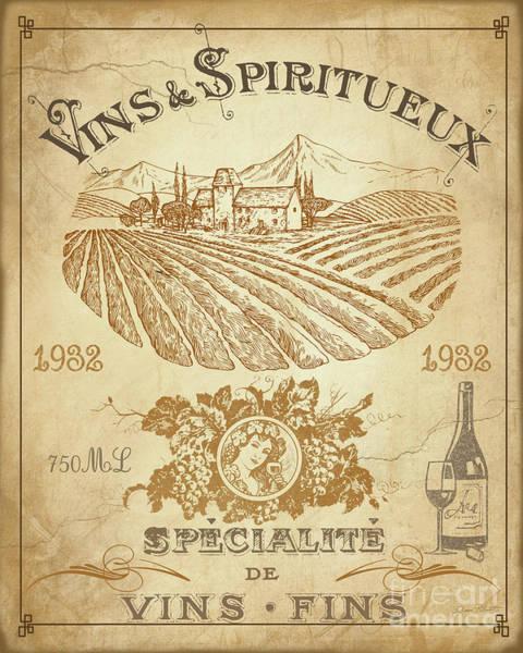 Wall Art - Digital Art - Vintage French Wine Label-jp3973 by Jean Plout