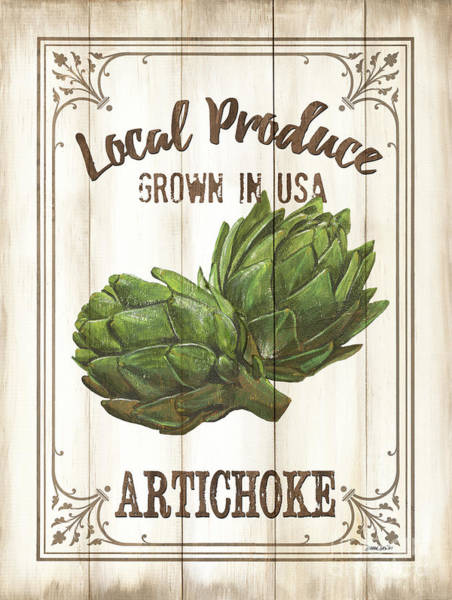 Artichoke Painting - Vintage Fresh Vegetables 2 by Debbie DeWitt