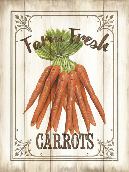 Wall Art - Painting - Vintage Fresh Vegetables 3 by Debbie DeWitt