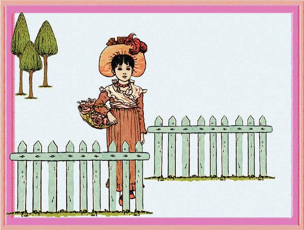 Digital Art - Vintage Garden Gate by Barbara Jacobs