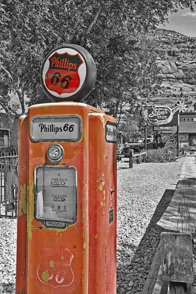 Wall Art - Photograph - Vintage Gas Pump by Steve Ohlsen
