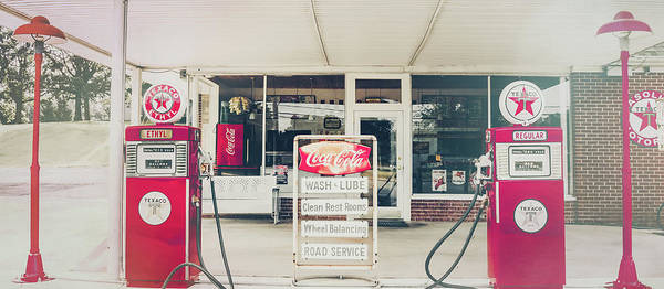 Photograph - Vintage Gas Station by Andrea Anderegg