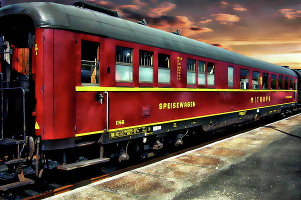 Photograph - Vintage German Dining Car by Anthony Dezenzio