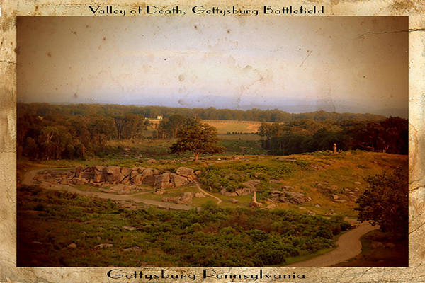 Wall Art - Photograph - Vintage Gettysburg Battlefield Postcard by Dave Sandt