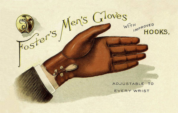 Photograph - Vintage Glove Advertisement by Andrew Fare