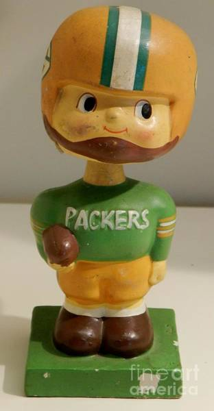 Wall Art - Photograph - Vintage Green Bay Packers Bobble Head by Snapshot Studio