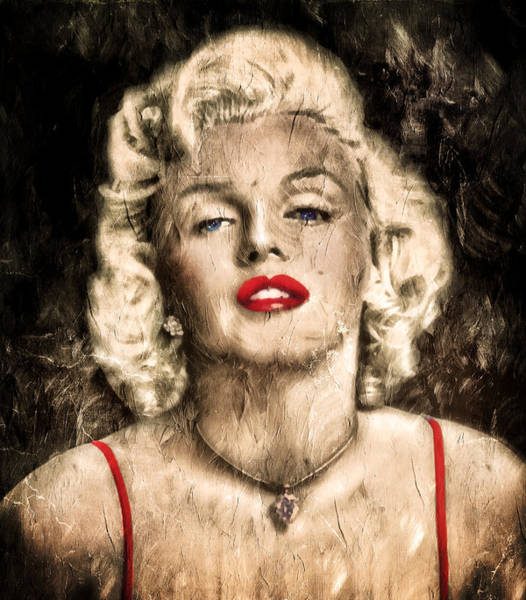 Painting - Vintage Grunge Goddess Marilyn Monroe  by Isabella Howard