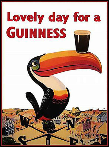 Wall Art - Digital Art - Vintage Guinness Beer Advert - Circa 1920's by Marlene Watson