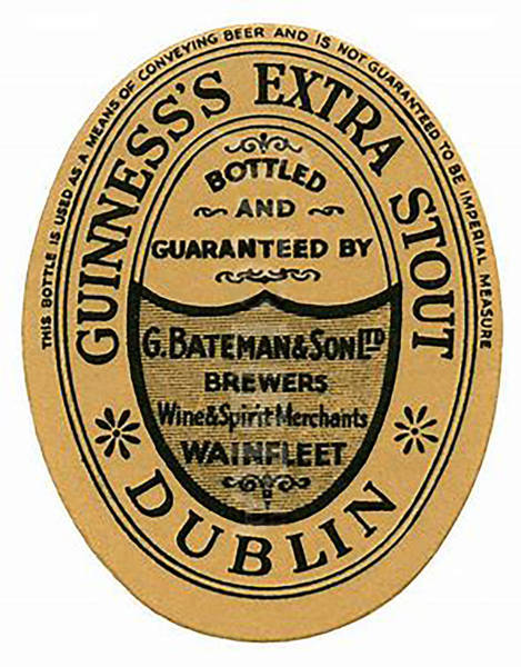 Wall Art - Digital Art - Vintage Guinness Beer Label - Circa 1969 by Marlene Watson
