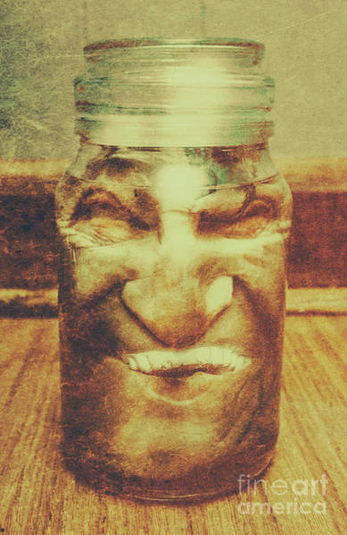 Experimenting Wall Art - Photograph - Vintage Halloween Horror Jar by Jorgo Photography - Wall Art Gallery