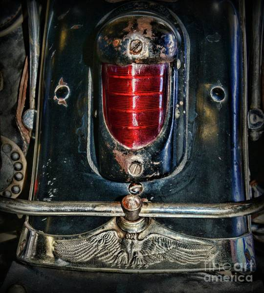 Wall Art - Photograph - Vintage Harley 1946 Knucklehead Tail Light by Paul Ward