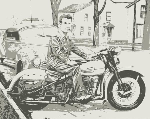 Wall Art - Digital Art - Vintage Harley by Charles Rogers