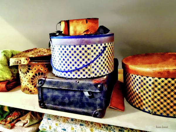 Photograph - Vintage Hat Boxes by Susan Savad