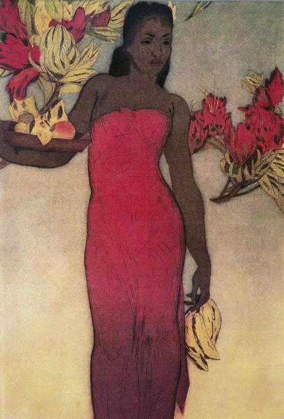 Wall Art - Painting - Vintage Hawaiian Woman by Hawaiiam Legacy Archives - Printscapes