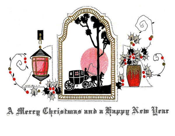 Ride Digital Art - Vintage Holiday Romantic Greeting by Long Shot