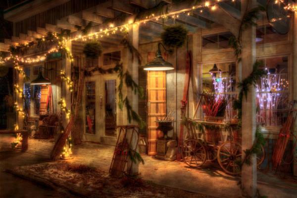 Photograph - Vintage Holiday Storefront  by Joann Vitali