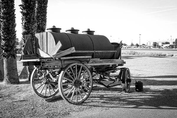 Photograph - Vintage Horse Drawn Water Wagon by Gene Parks