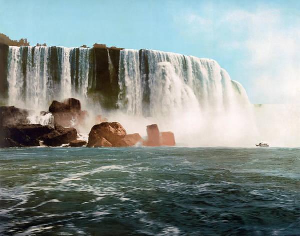 Niagara Falls Photograph - Vintage Horseshoe Falls Of Niagara - 1901 by War Is Hell Store