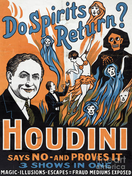 Wall Art - Painting - Vintage Houdini Poster by American School