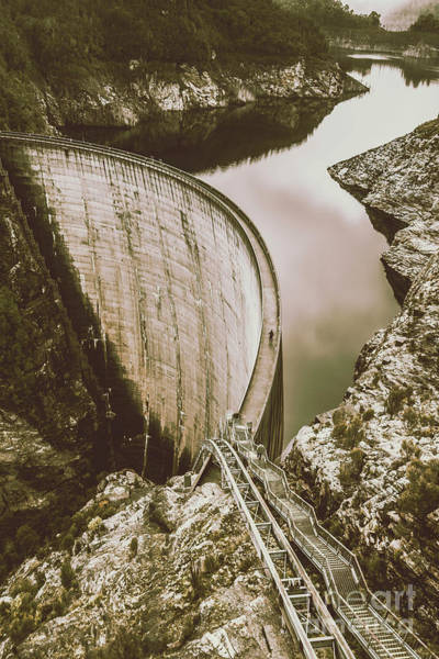 Dam Wall Art - Photograph - Vintage Hydro-electric Dam by Jorgo Photography - Wall Art Gallery