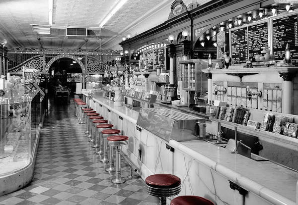 Photograph - Vintage Ice Cream Parlor by Andrew Fare