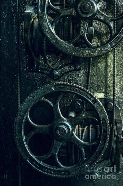 Turn Of The Century Wall Art - Photograph - Vintage Industrial Wheels by Carlos Caetano