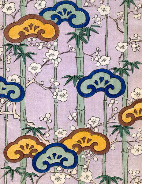 Bamboo Painting - Vintage Japanese Illustration Of Bamboo And Blossom by Japanese School