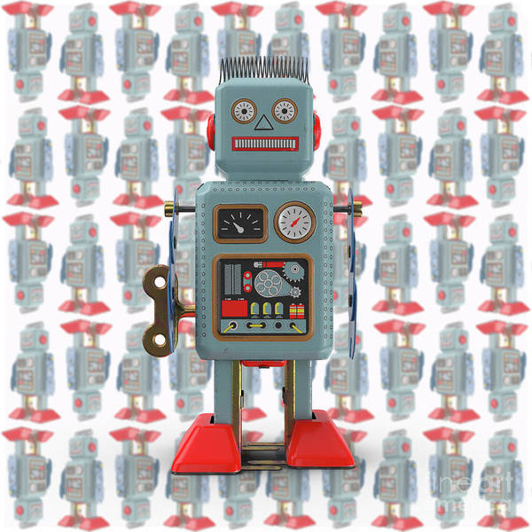 Photograph - Vintage Japanese Toy Robot Design by Edward Fielding