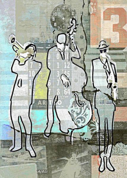 Jazz Trio Digital Art - Vintage Jazz Trio by Regina Wyatt