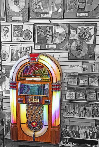 Wall Art - Photograph - Vintage Jukebox - Nostalgia by Steve Ohlsen