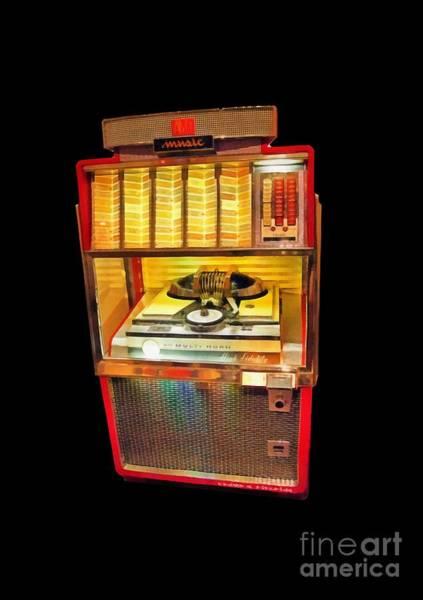 Wall Art - Digital Art - Vintage Jukebox Tee by Edward Fielding