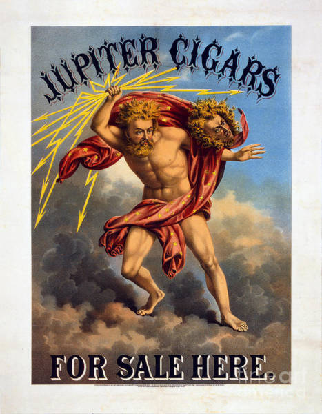 Wall Art - Photograph - Vintage Jupiter Cigar Advertisement by Jon Neidert