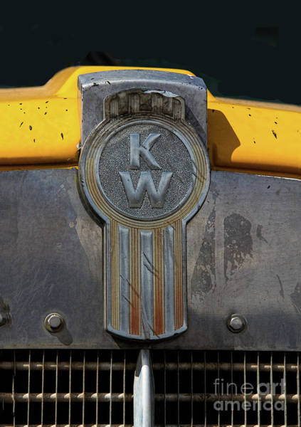 Freightliner Wall Art - Photograph - Vintage Kenworth Semi Truck Emblem by Nick Gray