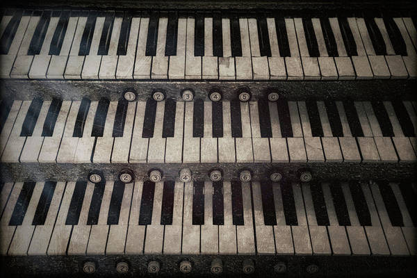 Wall Art - Photograph - Vintage Keyboard by Mike Burgquist