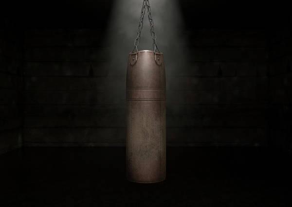 Fitness Digital Art - Vintage Leather Punching Bag by Allan Swart