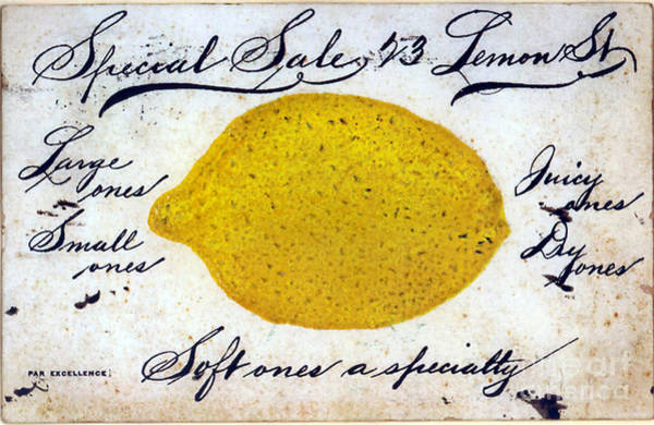 Wall Art - Painting - Vintage Lemon Sign by Mindy Sommers