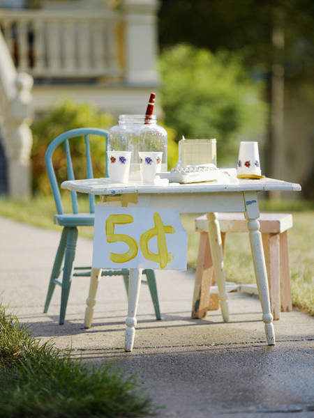 Cube House Wall Art - Photograph - Vintage Lemonade Stand 5 Lettering by Gillham Studios