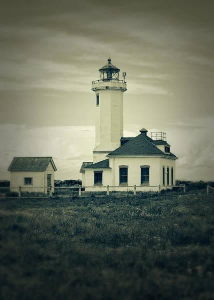 Photograph - Vintage Lighthouse Monochrome by Dan Sproul