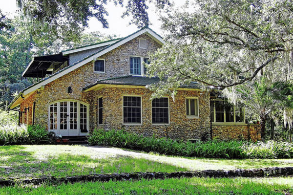 Photograph - Vintage Limestone Home by D Hackett