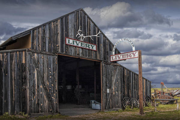 Photograph - Vintage Livery Stable by Randall Nyhof