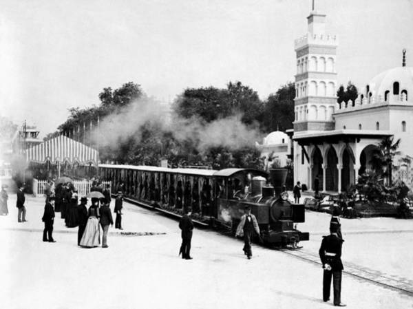 Wall Art - Photograph - Vintage Locomotive Ride - Paris Exposition - 1889 by War Is Hell Store