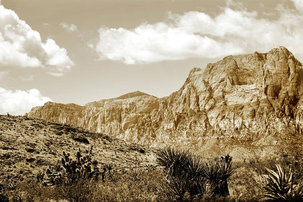 Photograph - Vintage Look Desert Mountains by Marilyn Hunt